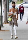 Alessandra Ambrosio showcases her svelte figure as she hits a Pilates class in Santa Monica, California