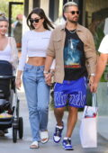 Amelia Hamlin and Scott Disick step out holding hands as they enjoy a day out shopping in Malibu, California