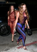 Anastasia Karanikolaou attends Kendall Jenner's 818 Tequila launch party at The Nice Guy in West Hollywood, California