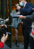 Anya Taylor-Joy greets fans as she steps out of her hotel in New York City