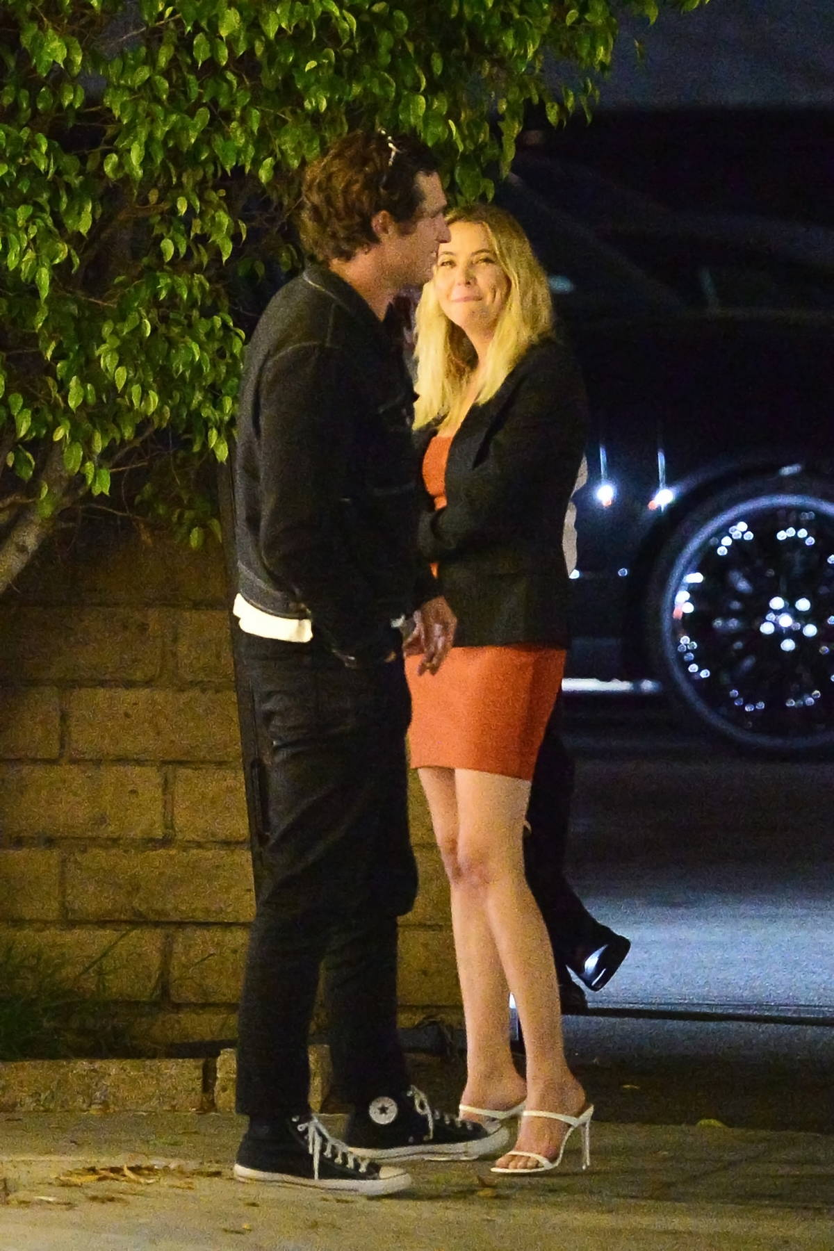 Ashley Benson and Matthew Morton spotted during a dinner date at Matsuhisa in Beverly Hills, California
