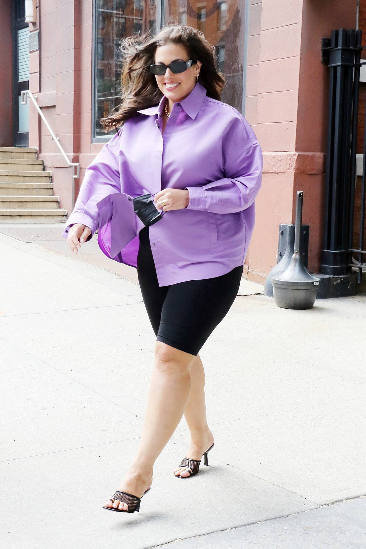 Ashley Graham is all smiles as she leaves the CBS Studios after guest-hosting 'CBS This Morning' in New York City