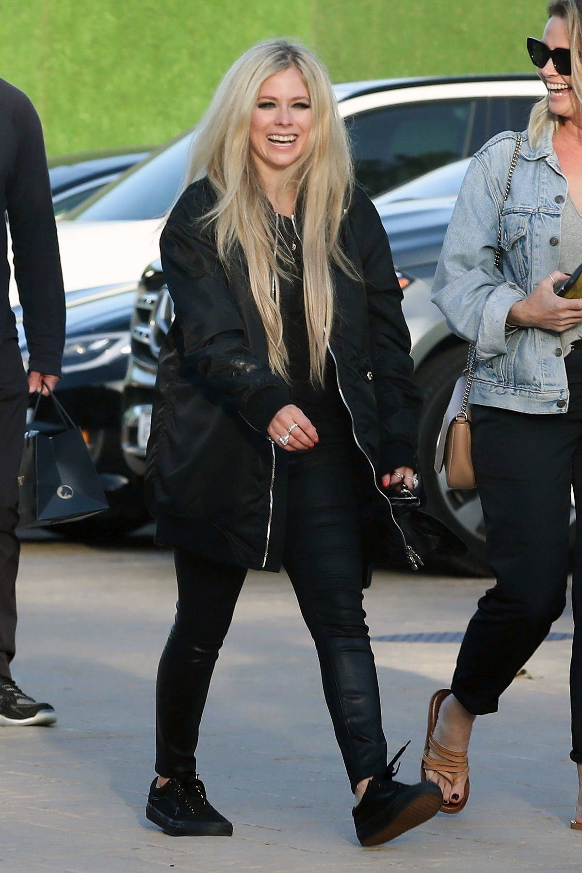 Avril Lavigne is all smiles after wrapping up dinner at Nobu in Malibu, California