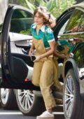 Camila Cabello dons beige overalls while out running errands in Beverly Hills, California
