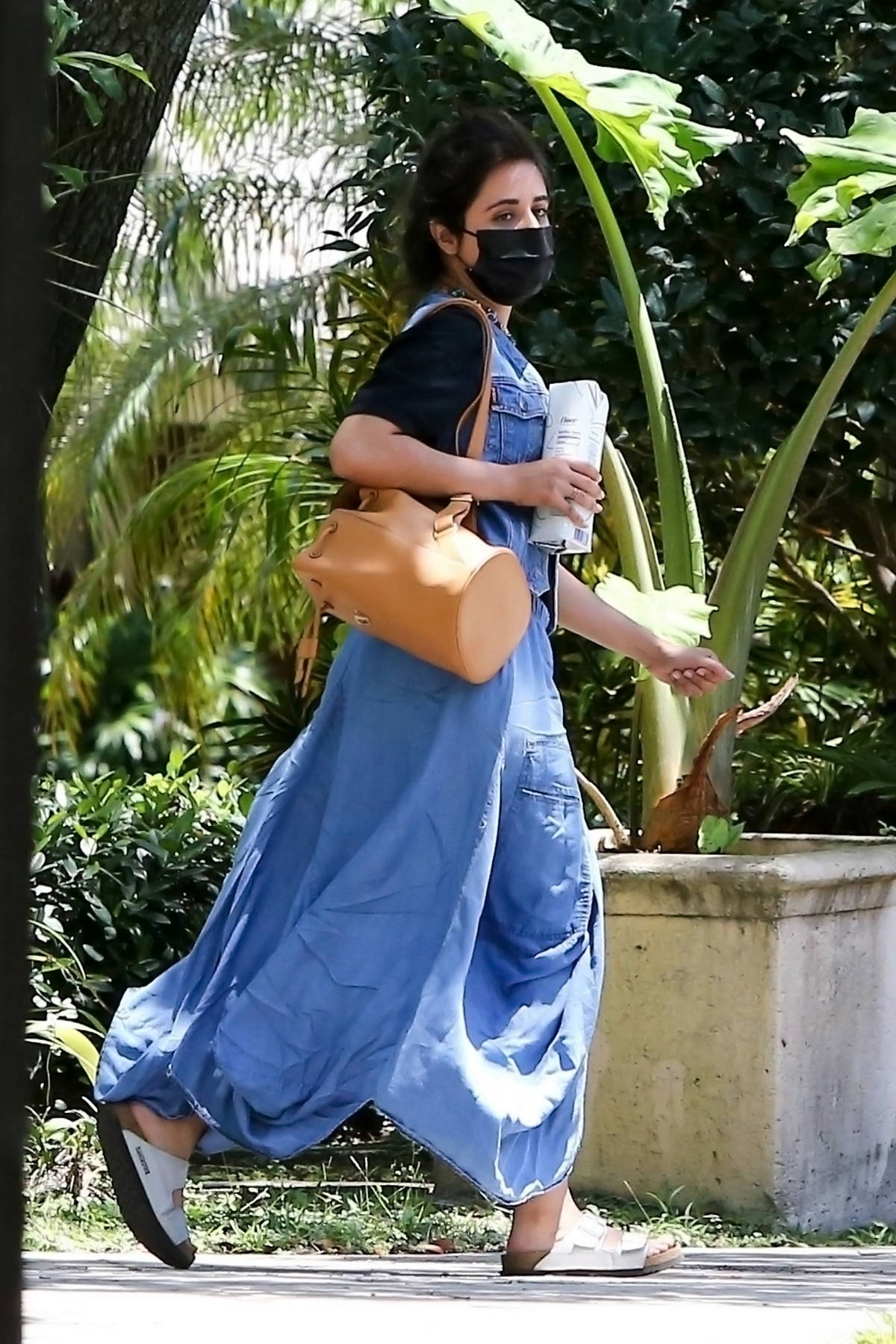 Camila Cabello spotted while taking a driving lesson around her neighborhood in Miami, Florida