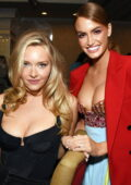 Camille Kostek and Haley Kalil attend 2021 Sports Illustrated Swimsuit Charity Blackjack Tournament in Atlantic City, New Jersey