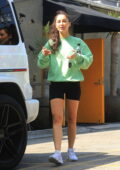 Cara Santana flashes her legs as she leaves the gym after a workout session in West Hollywood, California