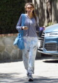 Chantel Jeffries seen wearing a hoodie and sweatpants as she leaves after a workout in Los Angeles