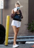 Charlotte Mckinney flashes her mile-long legs in shorts while stopping by a Erewhon Market in Los Angeles