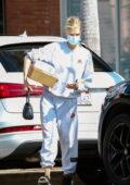 Charlotte McKinney steps out wearing sweats while running a few errands in Santa Monica, California