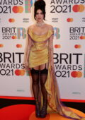 Dua Lipa attends The BRIT Awards 2021 at The O2 Arena in London, UK