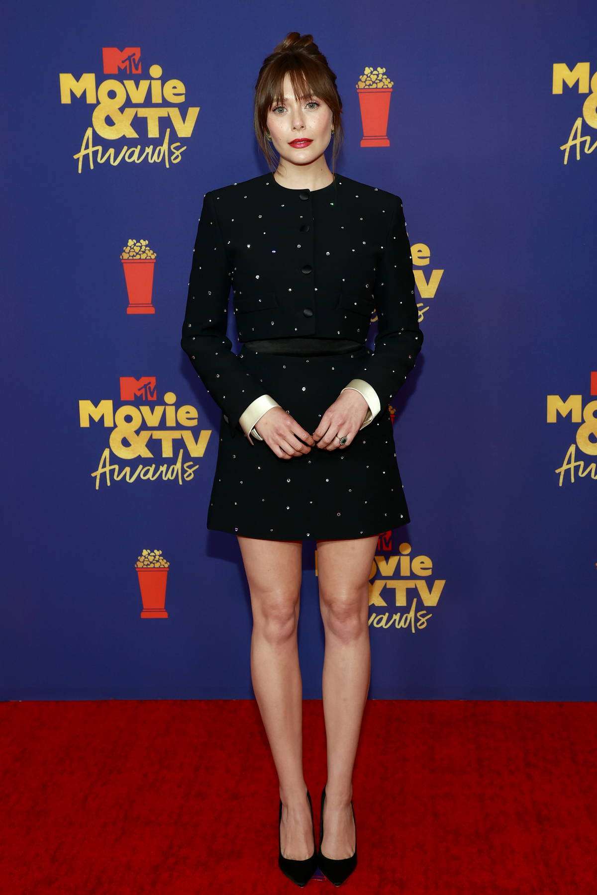 Elizabeth Olsen attends the 2021 MTV Movie & TV Awards at the Hollywood Palladium in Los Angeles