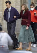 Emma Corrin and Harry Styles spotted filming scenes for 'My Policeman' in Brighton, UK