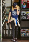 Emma Roberts and Garrett Hedlund step out for some coffee and magazines in Los Feliz, California