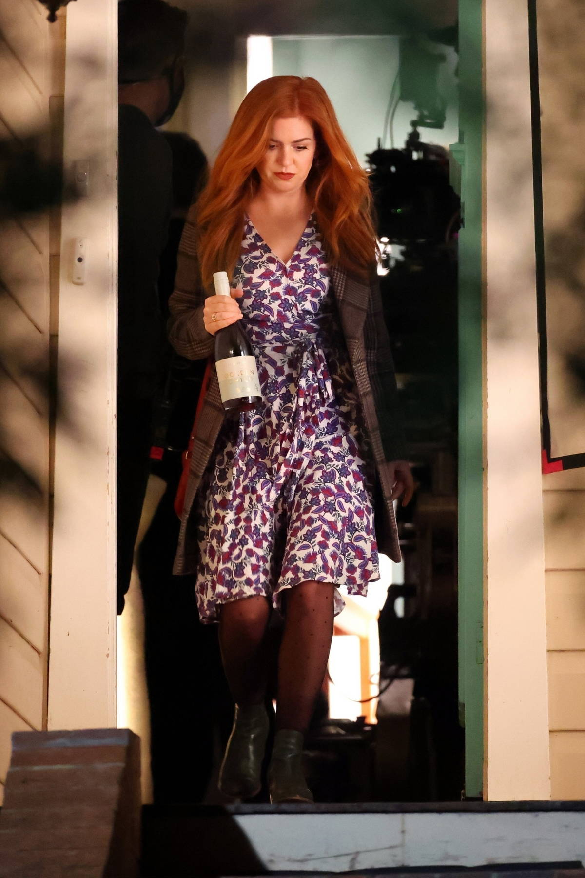 Isla Fisher and Josh Gad are seen on the set of 'Wolf Like Me' filming in Sydney, Australia