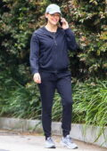 Jennifer Garner is all smiles as she chats on her phone while out on a morning walk in Brentwood, California