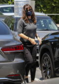 Jennifer Garner stops by the Country Mart while running errands with her son in Brentwood, California