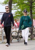 Jennifer Lawrence keeps cozy in sweats while out for a power walk with Cooke Maroney in New York City
