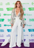 Jennifer Lopez attends Global Citizen Vax Live: The Concert to Reunite the World at SoFi Stadium in Inglewood, California