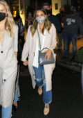 Jessica Alba steps out for dinner with her family and her best friend in New York City