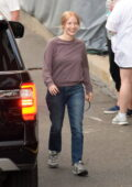 Jessica Chastain spotted on the set of 'The Good Nurse' filming in Norwalk, Connecticut