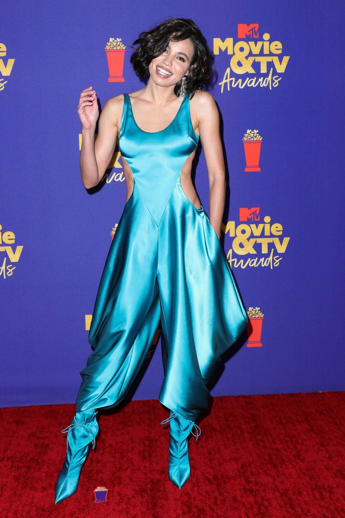 Jurnee Smollett attends the 2021 MTV Movie & TV Awards at the Hollywood Palladium in Los Angeles