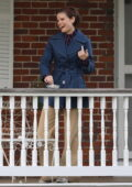 Kate Mara is all smiles in her 60s outfits on the set of 'Call Jane' in Hartford, Connecticut
