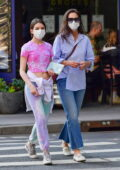 Katie Holmes and Suri Cruise step out for a stroll in New York City