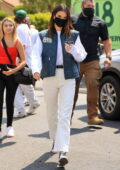 Kendall Jenner seen flanked by her bodyguards while delivering her 818 Tequila at Mel & Rose wine, Spirits & Gifts in Los Angeles