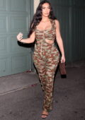 Kim Kardashian attends Kendall Jenner's 818 Tequila launch party at The Nice Guy in West Hollywood, California