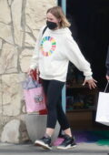 Kristen Bell takes her daughters shopping at a local Toy Store in Los Feliz, California