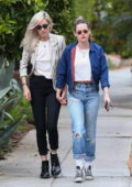 Kristen Stewart holds hands with girlfriend Dylan Meyer on a stroll in Los Angeles