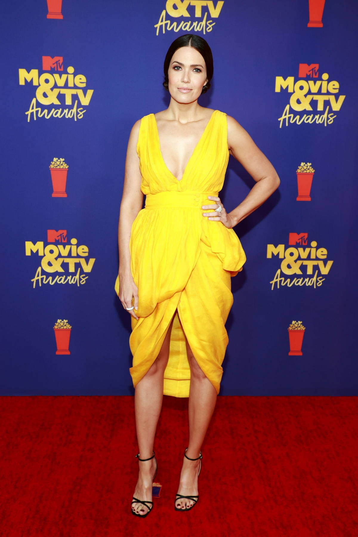 Mandy Moore attends the 2021 MTV Movie & TV Awards at the Hollywood Palladium in Los Angeles