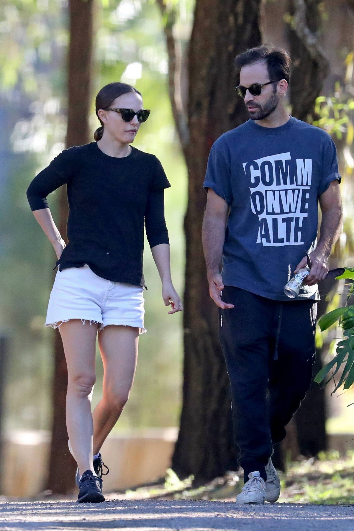 Natalie Portman and Benjamin Millepied spotted while getting a tour of an exclusive property in Sydney, Australia