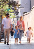 Nicky Hilton and James Rothschild take their girls to the Cupcake Store in New York City