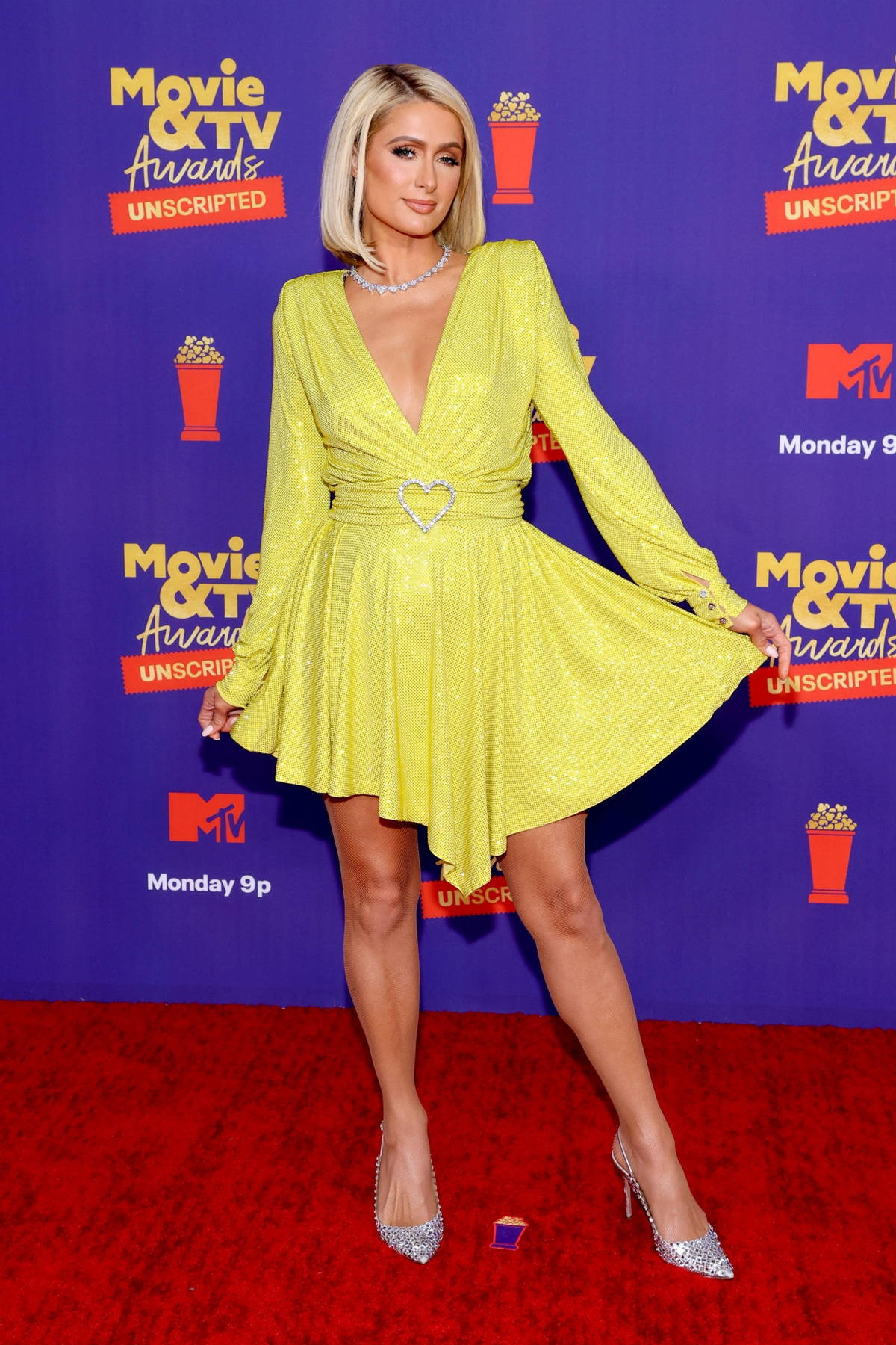 Paris Hilton attends the 2021 MTV Movie & TV Unscripted in Los Angeles
