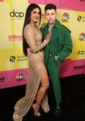 Priyanka Chopra and Joe Jonas attend the 2021 Billboard Music Awards at Microsoft Theater in Los Angeles