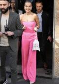Rita Ora looks pretty in pink as she leaves the Vida Glow Global Launch in Sydney, Australia