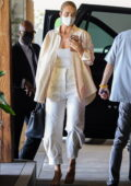Rosie Huntington-Whiteley dressed for business as she attends a meeting at 1 Hotel in West Hollywood, California