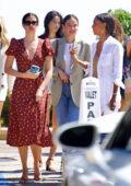 Sara Sampaio, Jasmine Tookes, Kelsey Merritt, and Shanina Shaik enjoy a girls lunch at Nobu in Malibu, California