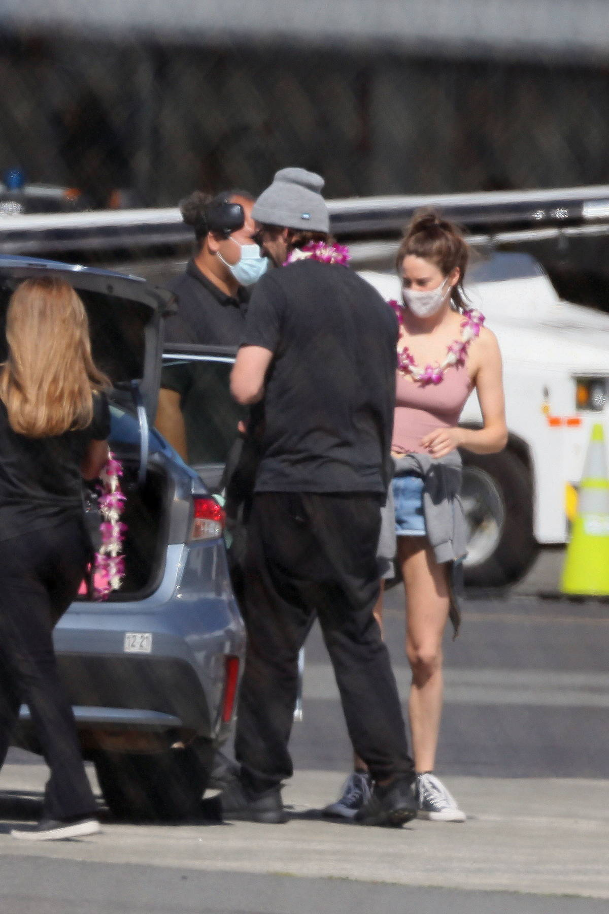 Shailene Woodley spotted touching down with fiancé Aaron Rodgers in Honolulu, Hawaii