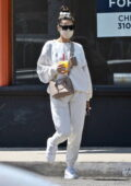 Shay Mitchell keeps it comfy in sweats as she leaves P.Volve LA after a workout session in West Hollywood, California