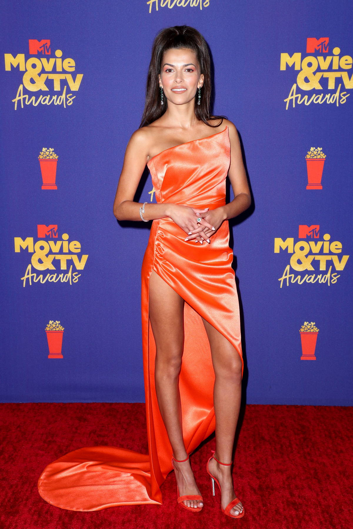 Sofia Pernas attends the 2021 MTV Movie & TV Awards at the Hollywood Palladium in Los Angeles