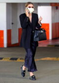 Sofia Richie keeps it chic as she picks up her ride at an underground parking in Beverly Hills, California