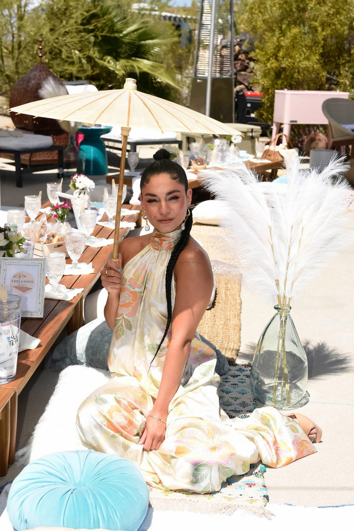 Vanessa Hudgens attends Caliwater Escape at the Mojave Moon Ranch in Joshua Tree, California