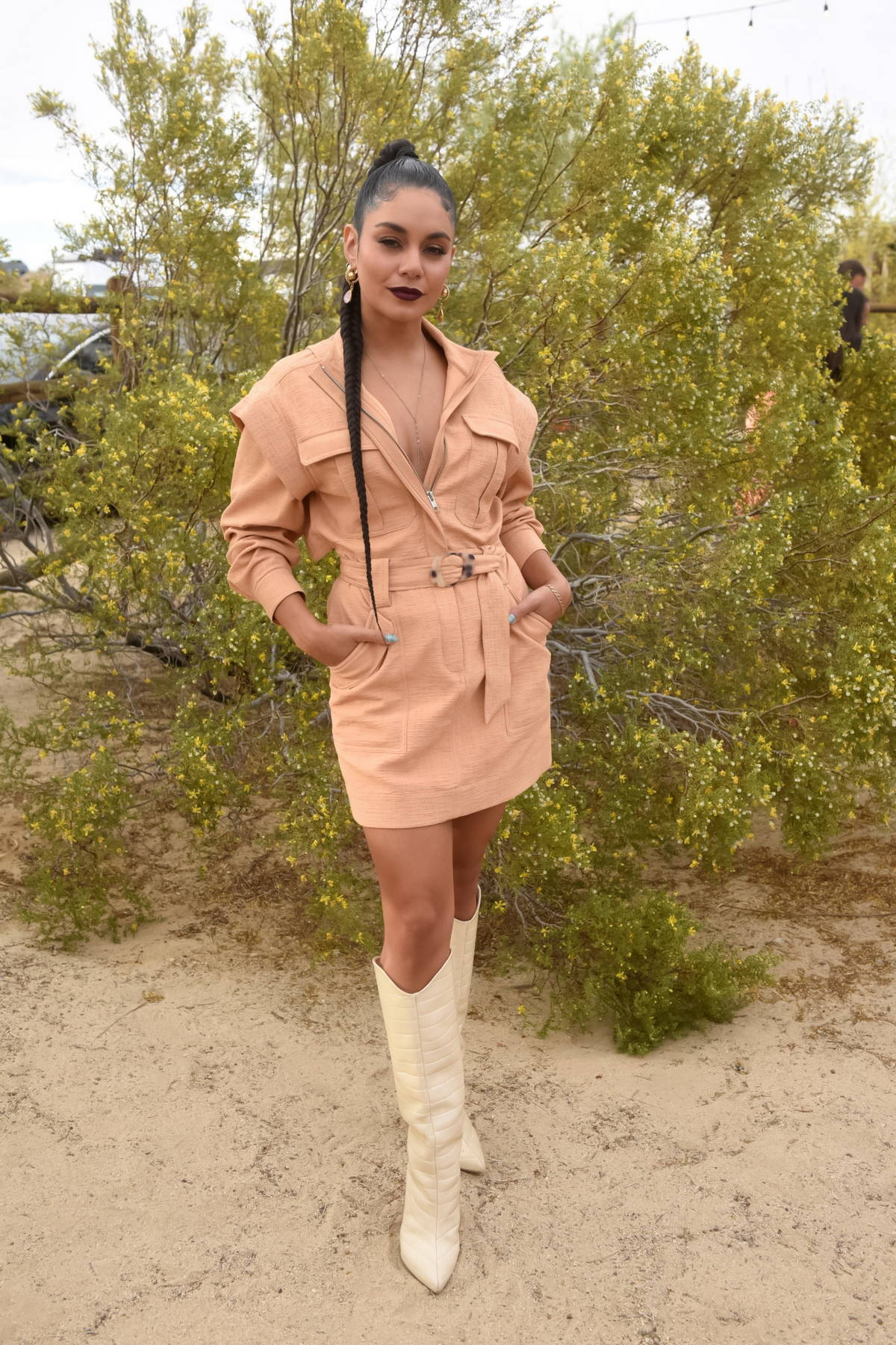 Vanessa Hudgens attends Caliwater Escape, Day 2 at the Mojave Moon Ranch in Joshua Tree, California