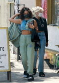Vanessa Hudgens keeps it casual as she steps out for lunch with GG Magree in Los Angeles