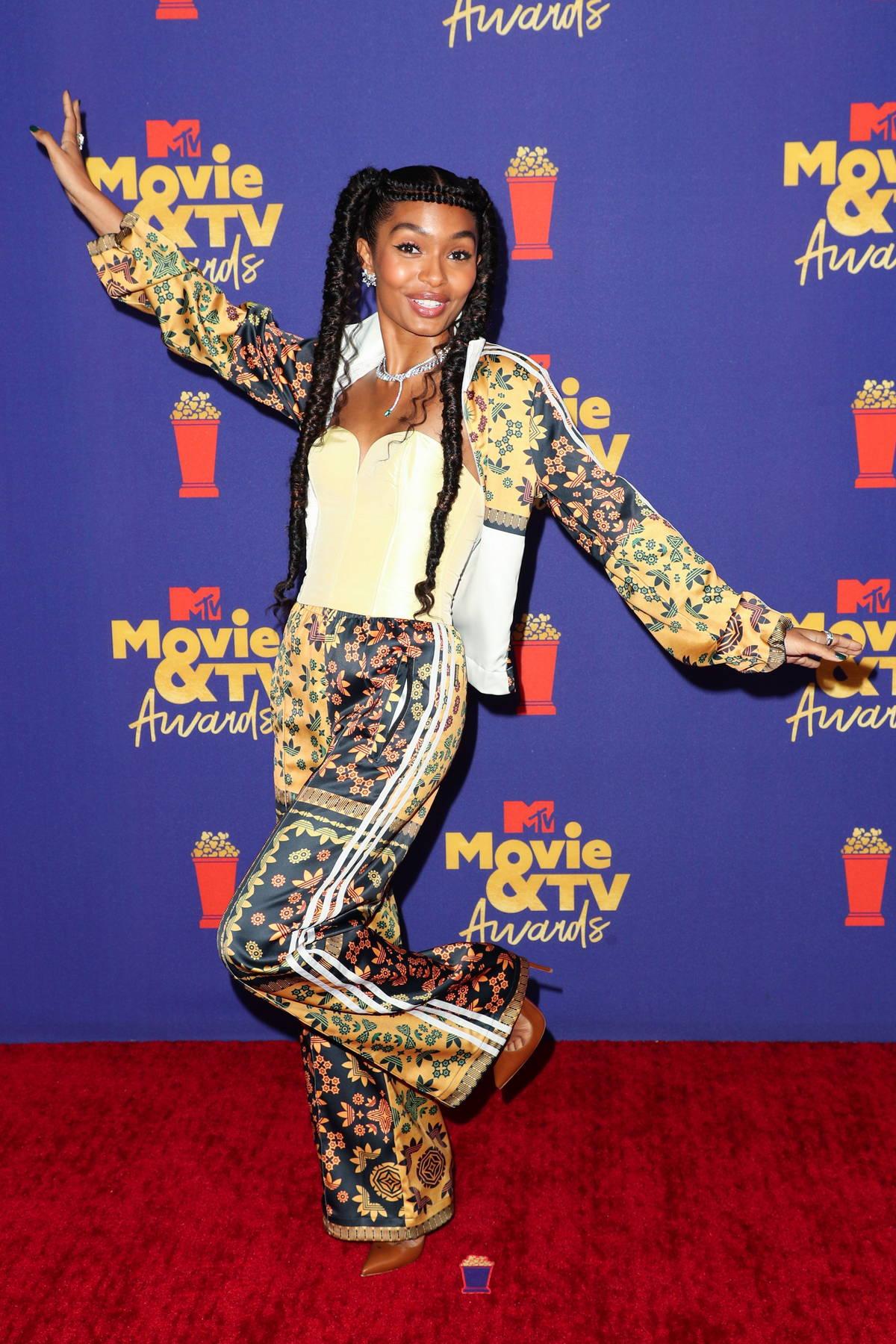 Yara Shahidi attends the 2021 MTV Movie & TV Awards at the Hollywood Palladium in Los Angeles