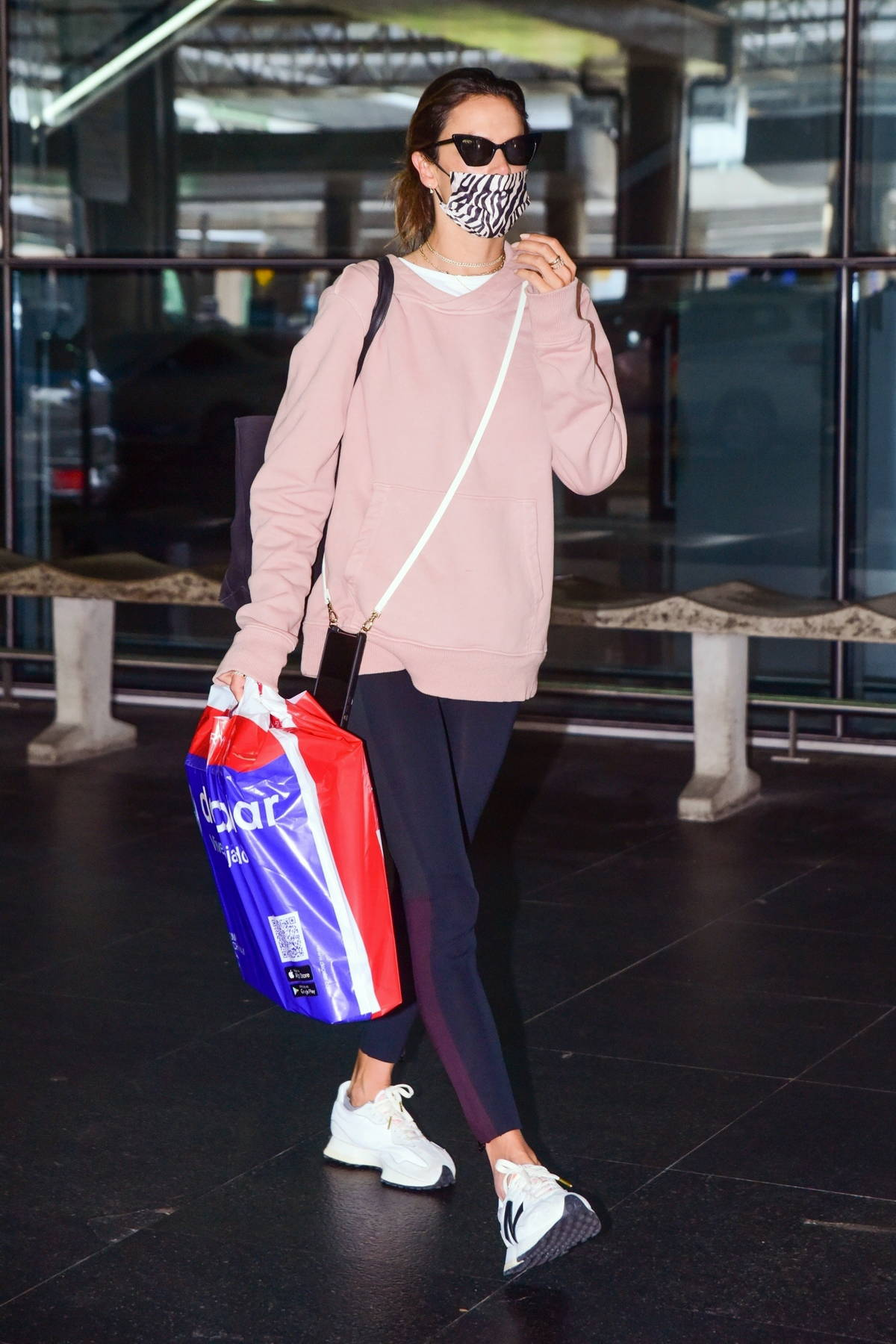 Alessandra Ambrosio keeps it casual as she touches down at Guarulhos' airport with boyfriend Richard Lee in Sao Paulo, Brazil