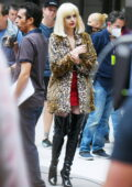 Anne Hathaway spotted in a bloody-faced and bruised look while filming an intense scene for 'WeCrashed' in New York City
